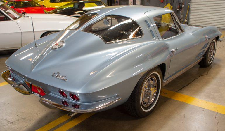 1963 silver blue corvette swc 0405