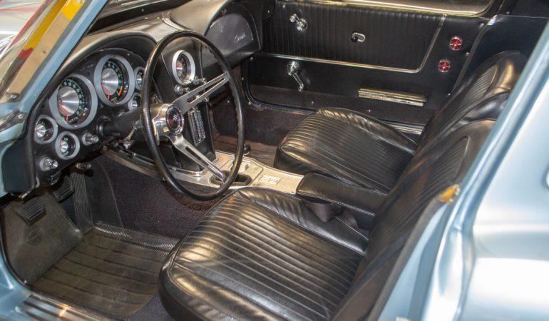 1963 silver blue corvette swc 0413