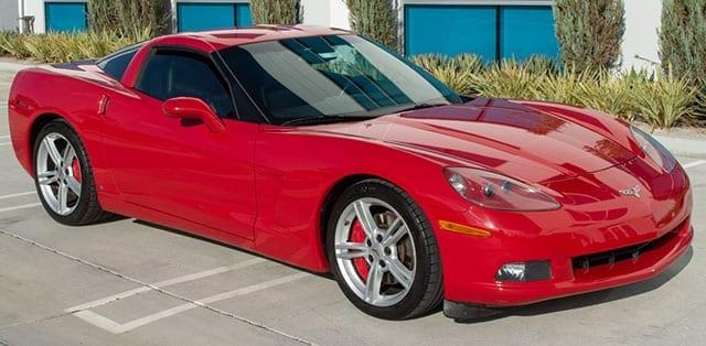 2008 red corvette coupe exterior 1