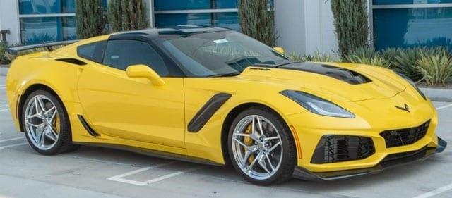 2019 corvette yellow