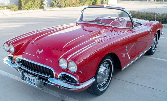1962 red corvette 340hp exterior 1