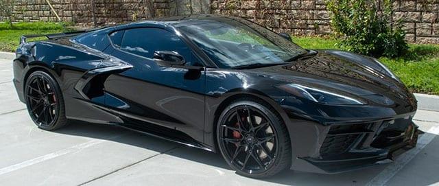 2021 black c8 corvette coupe 3lt z51 exterior 1