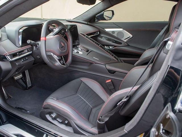 2021 black c8 corvette coupe 3lt z51 interior 1