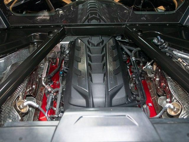 2020 red c8 corvette coupe 2lt z51 motor 1