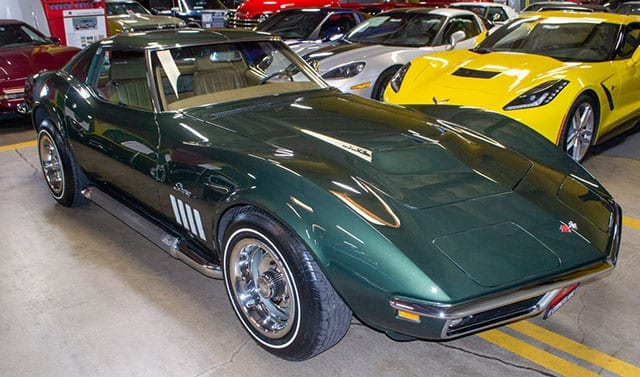 1969 green corvette l71 coupe exterior