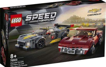 Lego Corvette Speed Champions C8.R & C3 Set