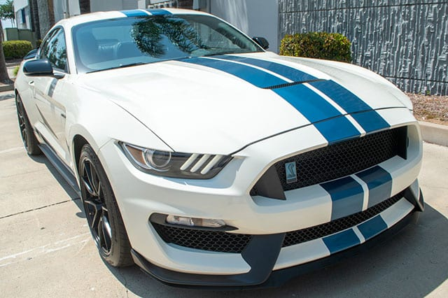2020 white shelby coupe exterior 1