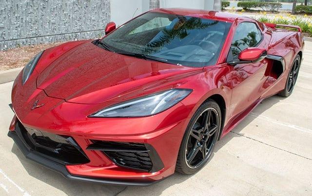 2021 red c8 corvette convertible exterior 1