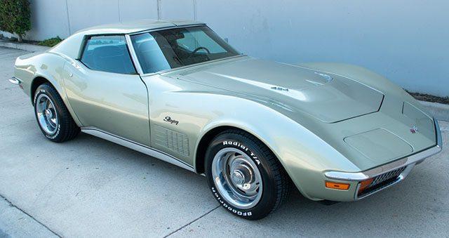 1972 silver ls5 corvette coupe special 1