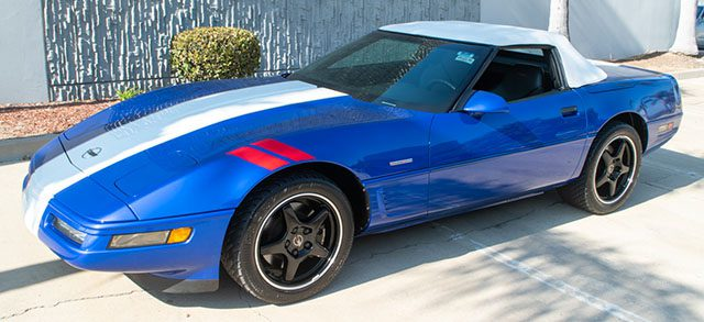 1996 blue grand sport convertible special 1